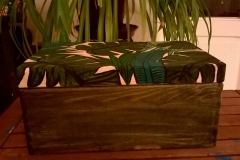 "Wooden box ""Plants"" sideview"